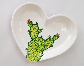 Cute Cactus Dish Prickly Pear Pottery