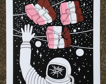 Astronaut Ice Cream - Limited Edition Screenprint