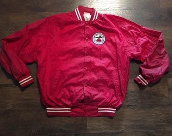Vintage Mens Adburn 1990 Daytona 500 Racing Sports Wear Button Up Athletic Windbreaker Jacket Sz: Large
