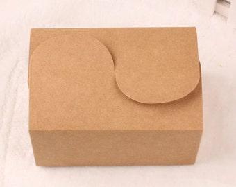 Kraft Paper Box - 50pcs Brown Kraft Boxes Paper Box Gift Boxes Gift Wrapping 155mm x 105mm x 85mm