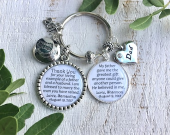 Father-of-the-Groom gift from Bride Father-of-the-Groom Keychain Father-in-Law gift from Bride to Parents of the Groom Wedding gift for Dad