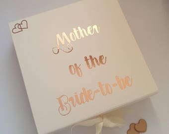 Mother Of The Bride Box, Mother Of The Groom Box, Bridal Party Gift Boxes