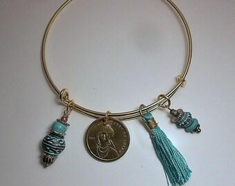 Queen of Sheba Coin Bracelet