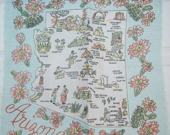 Vintage Arizona Souvenir Handkerchief