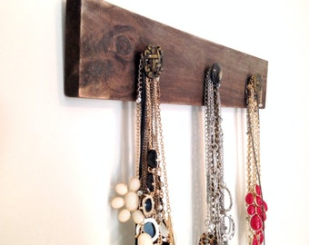 Necklace Holder, Wooden Jewelry Organizer, Wooden Necklace Holder, Necklace Display, Rustic Jewelry Display, Jewelry Display, Jewelry Holder