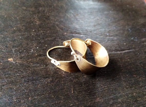 Small Brass Hoops