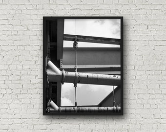 New York City Street Print / Digital Download / Fine Art Print/ Wall Art / Home Decor / Black and White Photograph / Travel Photography