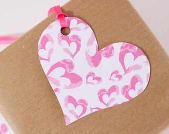 Heart Pattern Gift Tag - Multiple Designs