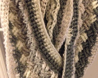 Celtic weave infinity scarf