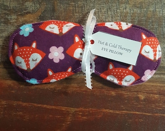 Eye Pillow - Hot & Cold Therapy Rice Pack - Foxy (Flannel)