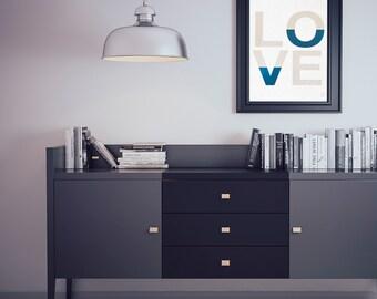 Love Geometric - Customizable - gilding - color-decoration - living room - bedroom