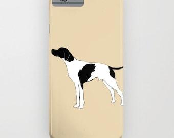 English Pointer Dog on phone case  -  iPhone 6S , Pointer Gifts, Dog Gifts, Samsung Galaxy S7, Samsung Galaxy S6 Edge, iPhone 8