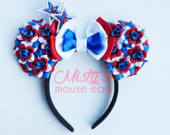 4th of July Rose Mouse Ears