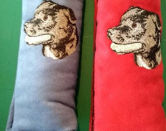 Embroidered Staffordshire Bull Terrier Seat Belt Pad
