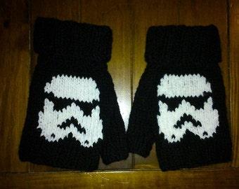 Star Wars Storm Trooper Fingerless Mittens