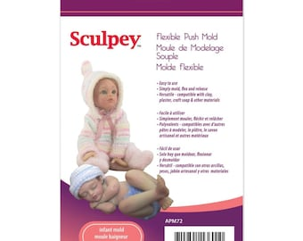 Sculpey INFANT DOLL Flexible Push Mold for Polymer & Air Dry Clay Sculpting Baby Art Doll