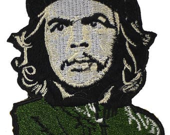 Embroidered back fusible Che Guevara patch 10.5 cm