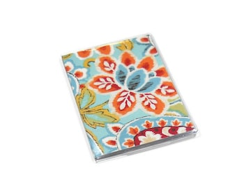 Passport Cover Bright Ikat Paisley