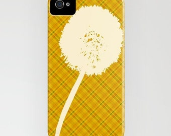 Dandelions on Phone Case -  stripes pattern, dandelions, Samsung Galaxy S7, iPhone 6S, iPhone 6 Plus, Gifts for her, iPhone 8