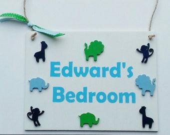 Handmade personalised bedroom door sign, door sign, bedroom, girls bedroom, boys bedroom