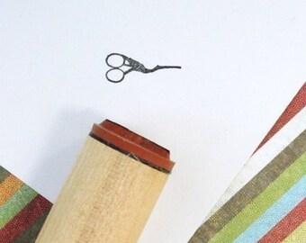 Antique Sewing Scissors Rubber Stamp