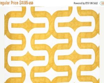 SALE Yellow Geometric Fabric by the YARD Embrace Corn Yellow White slub cotton home decor upholstery curtain pillow Premier Prints SHIPsFAST