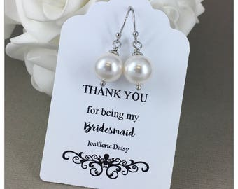 Bridesmaid Gift Bridesmaid Earrings Jewlery Gift for Bridesmaid Mother of the Bride Mother of Groom Gift Bridal Party Jewelry