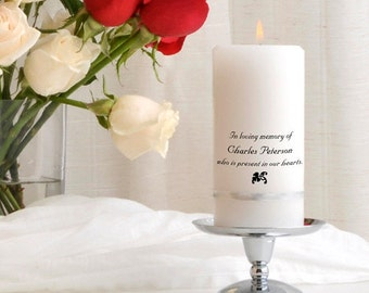Memorial Candle - Personalized Wedding Memorial Candle Set - GC314