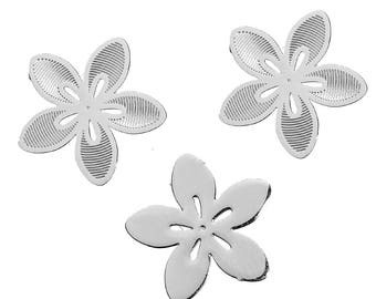 5 stainless steel flower embellishments