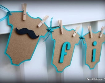 Lips & Staches Baby Banner