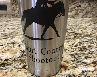 Cowboy Mounted Shooting Tumblers