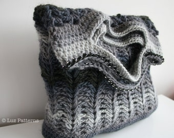 Crochet patterns, crochet bag pattern, crochet shopper bag pattern, crochet clutch bag pattern  INSTANT DOWNLOAD (131)