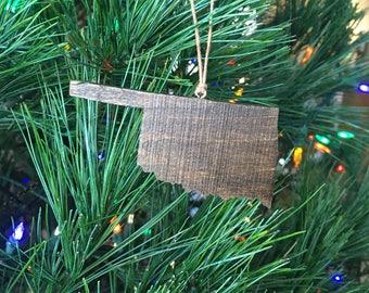 Oklahoma Ornament, Oklahoma State, Oklahoma cut out, Ornament, State Christmas Ornament