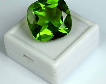 38.05 Ct. Cushion Cut Brazilian Olive Green Peridot Loose Gemstone Free Shipping