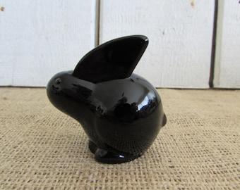Paperweight, Oneida Black Lead Crystal Rabbit Paperweight, Paperweights, Black Lead Crystal, Oneida Rabbit Figurine