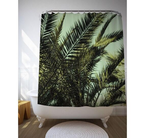 Exceptional Palm Leaf Shower Curtain, Bath Accessories, Tropical Decoration, Fabric  Curtain, Tropical Bathroom