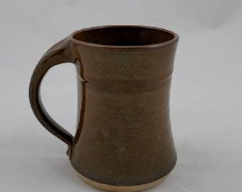 Mug Chocolate Brown Pottery Handmade by Daisy Friesen
