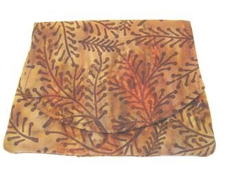 Autumn Sunset Batik Wallet