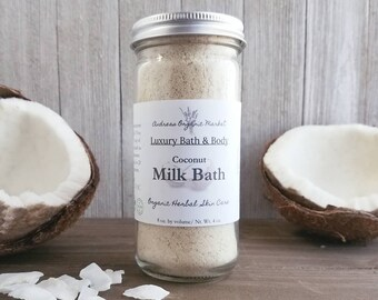 Organic Coconut Milk Bath, Natural Bath Soak with Real Coconut and Coconut Milk, Vegan Milk Bath, Organic Skin Care, Vegan Skin Care