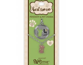 Best Furr-End Pendant and Charm Set - I Love My Cat