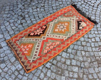 Vintage Turkish Oushak Rug, Oushak Rug 2x3, Turkish Rug Carpet, Carpet Rugs, Turkish Handmade Rugs, Carpet, Area Rugs, Vintage Carpet