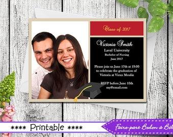 Graduation invitation - Graduation - Invitation - Graduation card - Printable invitation - printable card - Digital printable