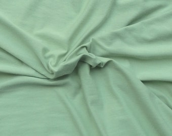 Modal Supima Cotton Spandex Jersey Knit Fabric by the Yard One Green