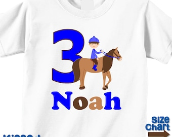 Personalized Horseback Rider Pony Horse Riding Birthday Party Shirt Boys 1st First 2nd 3rd 4th 5th 6th Birthday Party Horses Ponies Rides