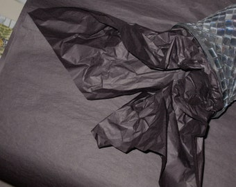 """10 Sheets of Black Tissue Paper (20"""" x 26"""")"""