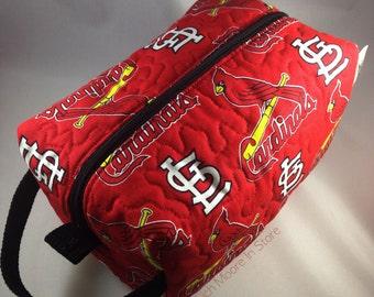 Quilted Dop Kit Travel Toiletry Makeup Shaving Bag Case Saint St Louis Cardinals