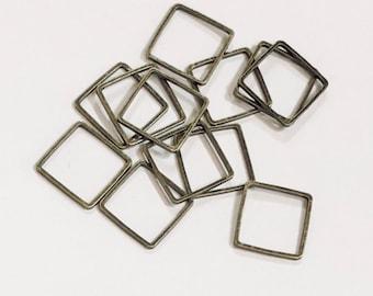 Liens de 50 pièces de laiton Antique carré 12mm