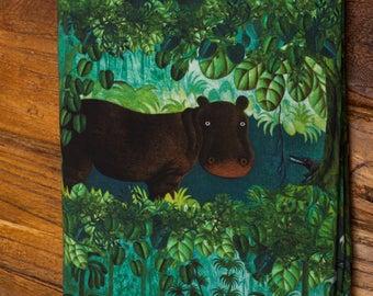 Forest Jungle Cotton Lycra Knit Fabric