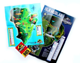 JURASSIC PARK SET - Brochures, and pass from Jurassic Park and Jurassic World movies - Jurassic World Brochure