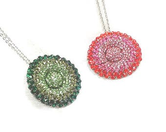 Upcycled Crystal Flower Necklaces In Sterling Silver Handmade Jewelry By NorthCoastCottage Jewelry Design & Vintage